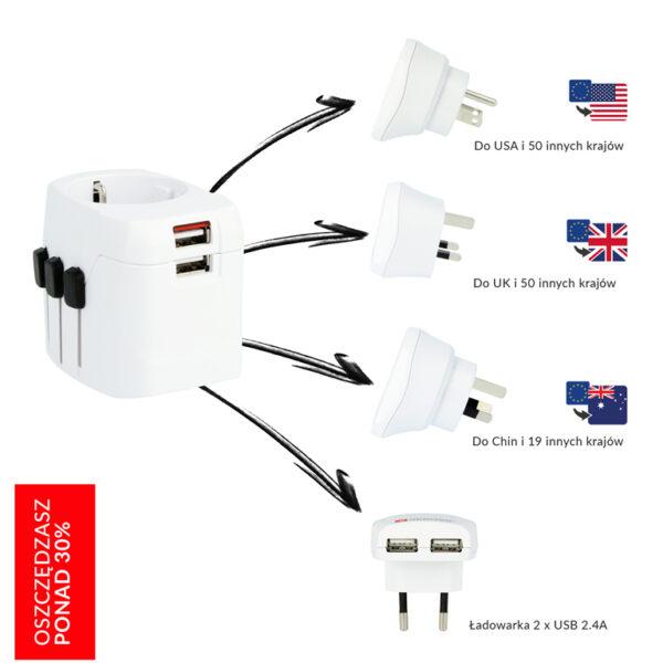 Adapter Podróżny PRO Light USB